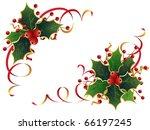 christmas holly | Shutterstock .eps vector #66197245