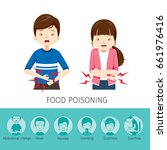 boy and girl stomachache... | Shutterstock .eps vector #661976416