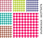 picnic table cloth. color... | Shutterstock .eps vector #661976476