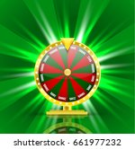realistic 3d spinning fortune... | Shutterstock .eps vector #661977232