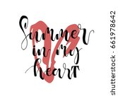 summer in my heart postcard.... | Shutterstock .eps vector #661978642