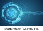 abstract futuristic circuit... | Shutterstock .eps vector #661982146