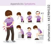 man with appendicitis symptoms  ... | Shutterstock .eps vector #661984132