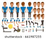 trainer man character creation... | Shutterstock .eps vector #661987255
