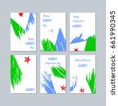 djibouti patriotic cards for...   Shutterstock .eps vector #661990345