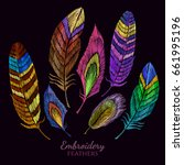Color Feathers Embroidery...