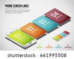 vector illustration of phone... | Shutterstock .eps vector #661995508