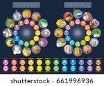 mineral vitamin supplement... | Shutterstock .eps vector #661996936