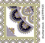 paisley amazing shawl square... | Shutterstock . vector #661999435