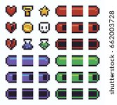pixel art ui elements with...
