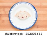 crab shells in white plate with ... | Shutterstock . vector #662008666