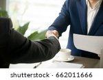 handshake close up  male hands... | Shutterstock . vector #662011666