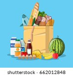 paper shopping bag full of... | Shutterstock .eps vector #662012848