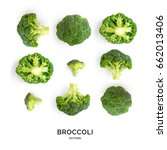 Seamless Pattern With Broccoli...