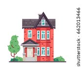 detailed colorful cottage house.... | Shutterstock .eps vector #662013466