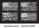 usa american grunge flag set ... | Shutterstock .eps vector #662015398