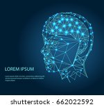 human head with the brain... | Shutterstock .eps vector #662022592