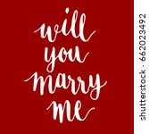 will you marry me handwriting... | Shutterstock .eps vector #662023492