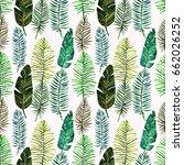 tropical summer. watercolor... | Shutterstock . vector #662026252