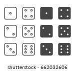 dice icon set  vector symbol in ... | Shutterstock .eps vector #662032606