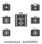 first aid kit icon set  vector... | Shutterstock .eps vector #662033902