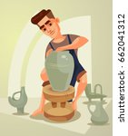 happy smiling potter character... | Shutterstock .eps vector #662041312