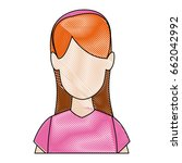 avatar of woman character... | Shutterstock .eps vector #662042992