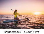 Girl On Stand Up Paddle Board ...