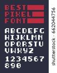 8 bit retro latin alphabet... | Shutterstock .eps vector #662044756