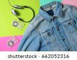 jeans jacket  audio cassettes ...   Shutterstock . vector #662052316