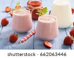 healthy beverage   strawberry... | Shutterstock . vector #662063446