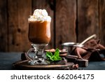 Iced Cocoa Drink With Whipped...