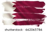 qatar flag background with... | Shutterstock . vector #662065786