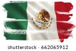 mexico flag background with... | Shutterstock . vector #662065912
