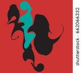 decorative vector element with... | Shutterstock .eps vector #662066332