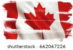 canada flag background with... | Shutterstock . vector #662067226