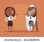 happy smiling narcissistic... | Shutterstock .eps vector #662068846