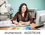 architect with color palette on ... | Shutterstock . vector #662078146