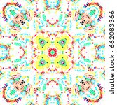 mosaic colorful pattern for... | Shutterstock . vector #662083366