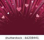 Dark Red And Pink Love Heart...