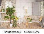 the interior of living room... | Shutterstock . vector #662084692