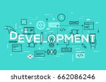 back end and front end software ... | Shutterstock .eps vector #662086246