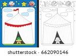 preschool worksheet for... | Shutterstock .eps vector #662090146
