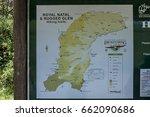 Small photo of Royal Natal Park - December 2, 2011: Map for Thukela gorge in Royal Natal Park Drakensberg mountain, South Africa