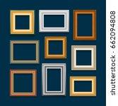vector set of picture frames on ... | Shutterstock .eps vector #662094808