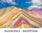 vinicunca  montana de siete... | Shutterstock . vector #662095366