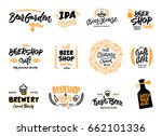 beer logotype set | Shutterstock .eps vector #662101336