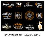 beer logotype set | Shutterstock .eps vector #662101342