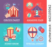 retro circus banners with... | Shutterstock .eps vector #662105062
