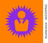business man icon. violet spiny ... | Shutterstock .eps vector #662105962